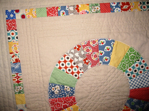 retro mini quilt detail