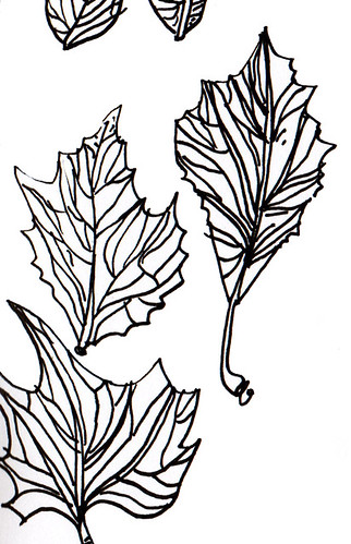 inked leaves