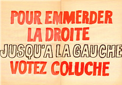 Affiche Votez Coluche