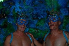 Peacock Boys - Halloween 2010 - The Shoppes at Wilton Manors, FL (jrozwado) Tags: usa man halloween costume mask florida feather peacock northamerica headpiece wiltonmanors