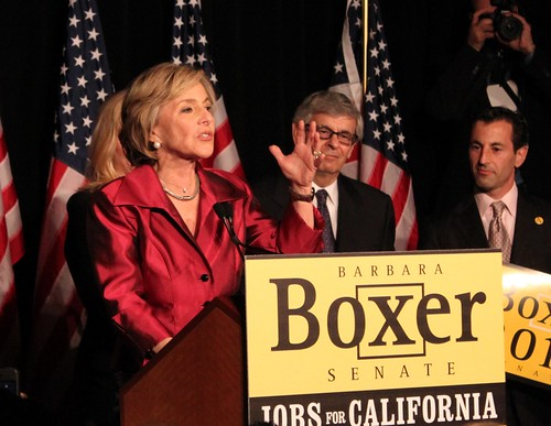 Sen. Barbara Boxer, who introduced HR1807 (Joint US-USSR Peace Corps) in 1989.