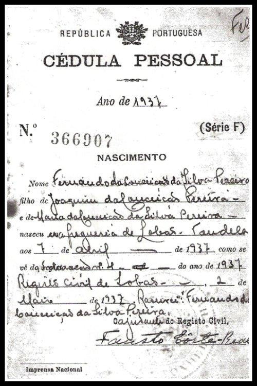 REGISTO CIVIL-LOBÃO DABEIRA