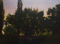 Millais's The Vale of Rest with detail of trees
