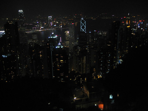 The Hong Kong city skyline from the Peak.