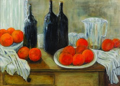 Table with bottles and oranges (Il colorista) Tags: family trees house tree art nature photo italiy i