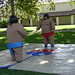 Sumo Wrestling at the Welcome Back BBQ 2002