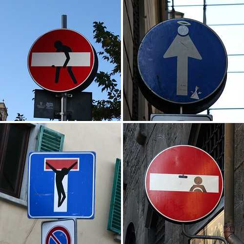 Road signs Florence