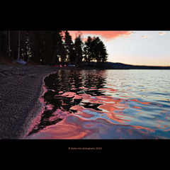 "pink ""pollution"" (stella-mia) Tags: pink sunset lake water norway fire dof pov pinky explore pollution pinkclouds mjsa aftersunset 2470mm pinkwater lowpov explored canon5dmkii reflectionandpinkcloyds"