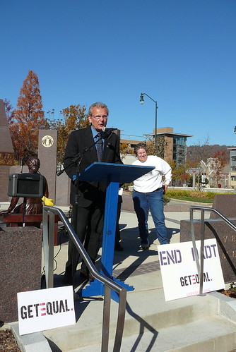 "GetEQUAL holds Veterans Day rally to repeal ""Don't Ask Don't Tell"""