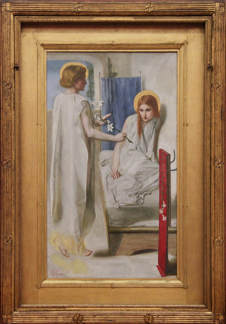 Ecce Ancilla Domini! (The Annunciation), Dante Gabriel Rossetti, 1849-50