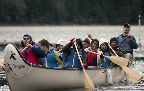 Voyageur Canoe at the Youth Leadership Conference