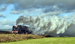 The Duke (geoffspages) Tags: railway steam dukeofgloucester 71000 uksteam kartpostal cauldonlowe