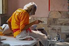 Holy Man Drinking, Udaipur (Peter Cook UK) Tags: udaipur holyman