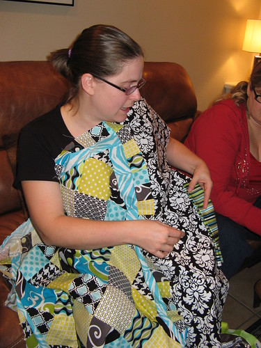 Mandi and one of her baby quilts