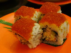 Tobiko with Crab Meat Sushi