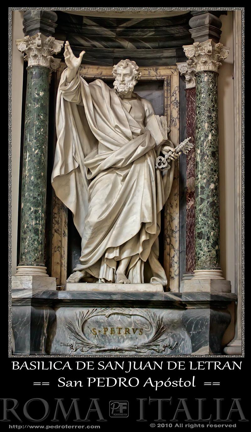Roma - Basílica de San Juan de Letrán - San Pedro Apóstol
