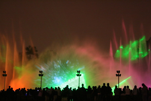 Laser in water