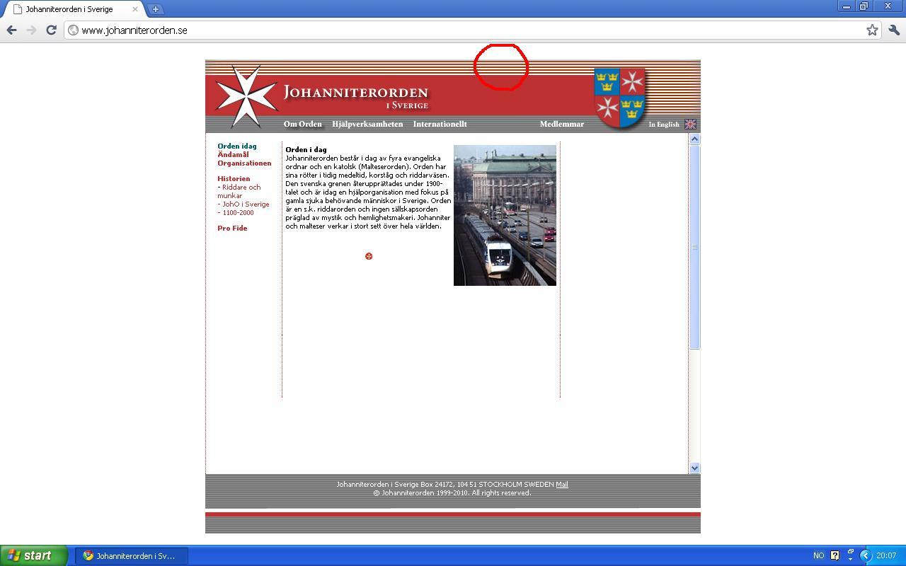 f6aab4ea Man kan se at Johanitterordenen har røde og hvite striper. Dette bringer  tilbake minner, fra 80-tallet