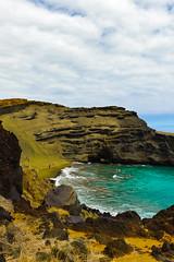 Papakolea Beach (wgh3) Tags: usa beach hawaii bigisland locations southpoint sceniclandscape papakoleagreensandbeach