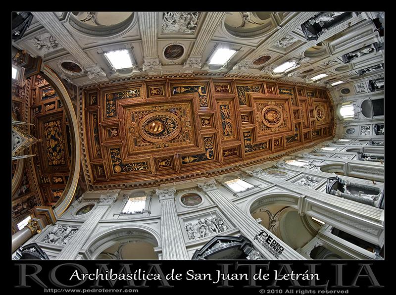 Roma - San Juan de Letrán - Techo nave principal