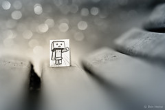 Be My Friend - 2 (Ben Heine) Tags: park light brussels wallpaper blur game macro cute art nature pencil paper print creativity japanese robot miniature eyes hug focus friend scenery truth funny poem different technology friendship belgium sweet bokeh box brother expression character small manga dessin sharp sparkle cardboard illusion ami fantasy tiny carton sciencefiction tribute crayon conceptual hommage figurine copyrights papier share amiti bote lpiz enfance yotsuba danbo ddicace theartistery 200mmlens chidhood bemyfriend revoltech benheine drawingvsphotography danboard samsungimaging miurahayasaka nx10 pencilvscamera imaginationvsreality