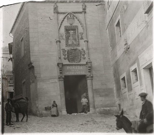 Posada de la Hermandad en los años 20. Fotografía de Ángel del Campo Cerdán