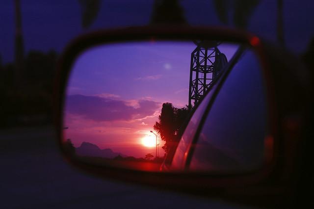side mirror sun