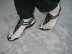 Double strap thong sandal (2moshoes) Tags: black hot feet leather fun shoe toes toe arch legs sandals nail polish ring thong thongs strap nailpolish toering sandal strappy toerings thongsandals backstrap leatherthongs