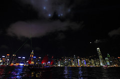 Light Show over Victoria Harbour, Hong Kong (Clement Tang ** busy **) Tags: travel music night hongkong lightshow victoriaharbour concordians scenicsnotjustlandscapes