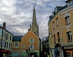 SNB10652- Harfleur centre ville France (Rolye) Tags: blue sky france church shopping yahoo google samsung bleu ciel shops église ops paroisse lehavre harfleur magasins seinemaritime saintmarc hautenormandie nv7 flickraward rolye