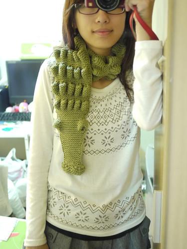 好可愛的鱷魚圍巾>//////<