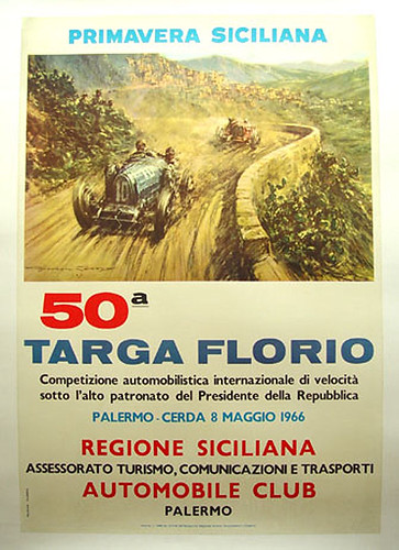 025-Targa Florio, 1966-© 2010 Vintage Auto Posters. All Rights Reserved