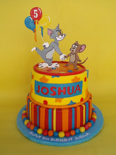 Tom and Jerry 5th Birthday Cake