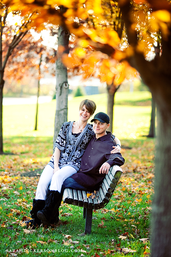 Parkville Missouri engagement session English Landing Park