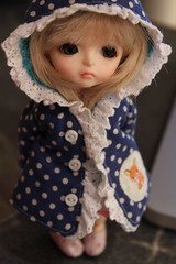 Mia and the new coat (Chtiterikku) Tags: yellow cookie mia lati littleameliebypoppyw
