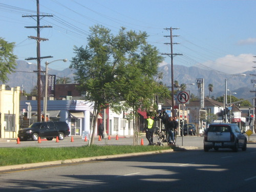 Law and Order: LA shoot in Atwater Village