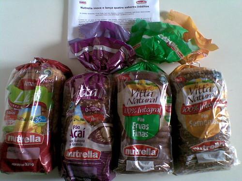 Acabou de chegar aqui: 4 novos sabores de pães Nutrella