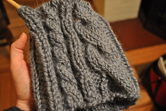 Asymmetrical Cable Hat