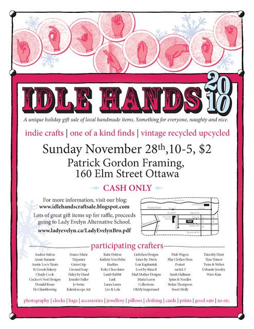 Idle Hands Craft Sale Poster