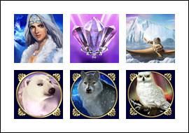 free Arctic Treasure slot game symbols