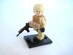 Modern Combat Soldier (Dioniisus) Tags: soldier lego custom combat m4 douchebag minifigure moder brickarms