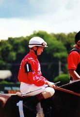Saratoga Pat Day up (track_photos) Tags: 2000 saratoga jockey horseracing patday