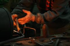 hands working (red alder ranch) Tags: metal blacksmith forge metalworking naselle hammerin solsticeforge
