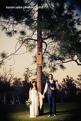 the little birdhouse in your soul (smalldogs) Tags: wedding groom bride theymightbegiants bridalportrait songlyrics manandwife weddingportrait themedwedding 70swedding littlebirdhouseinyoursoul