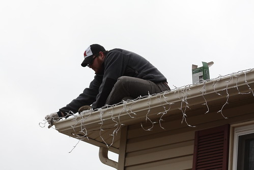 Hanging the lights
