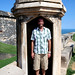 Zay has a new day job - guard duty @ Fort San Cristóbal