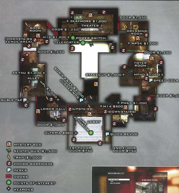 Kino Der Toten Map Layout. Source: google search call of duty zombie mode