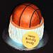basketball in hoop cake