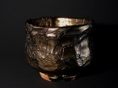 Golden Glazed Chawan - Yamato Tsutomu (KYO-MARU) Tags: art ceramic tea ikebana pottery yamato chawan ocha hagi tsutomu ceramicart japanesepottery