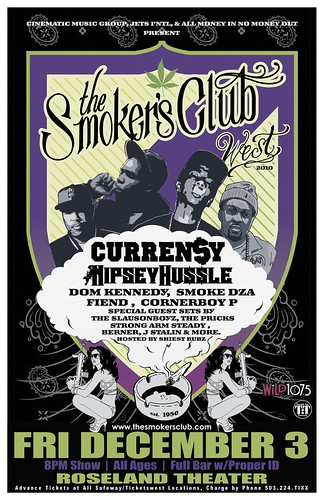 Smokers Club - Curren$y, Nipsey Hustle This Friday @ Roseland Theater